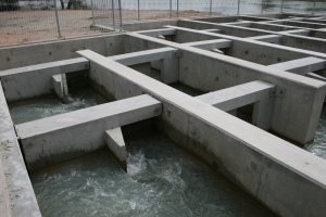 Fig 1. Lock 3 Vertical Slot Fishway 3. (Photo Jarrod McPherson NSW DPI)