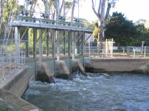 Figure 1. Regulator on Gulpa Creek. (Photo courtesy Matthew Jones, ARI)