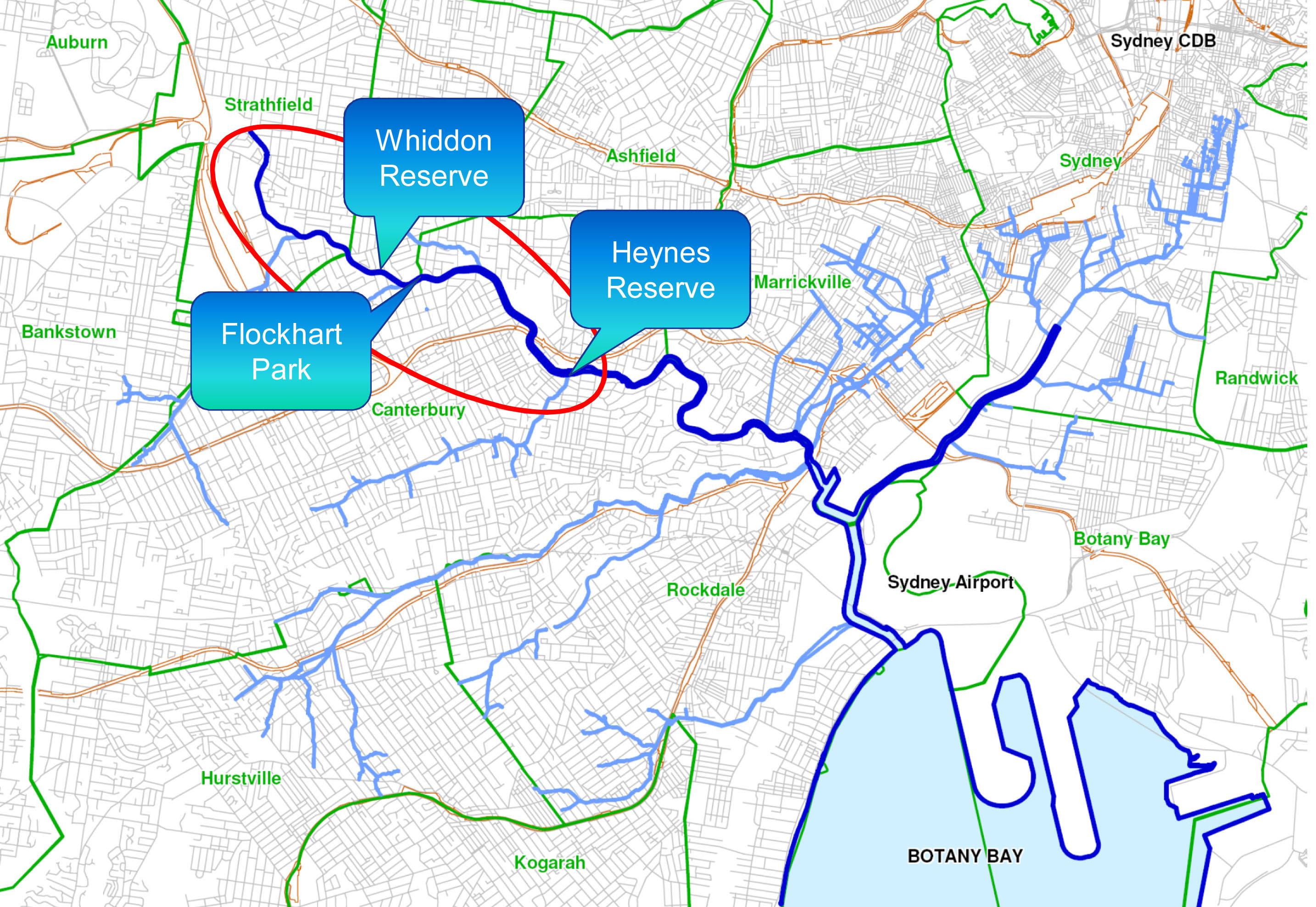 cooks river naturalisation sites