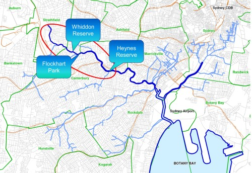 Fig 2. Cooks River Naturalisation sites