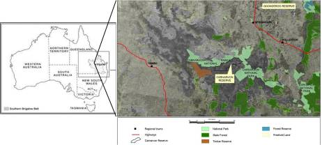 Fig 1. Locality map of Carnarvon Station Reserve