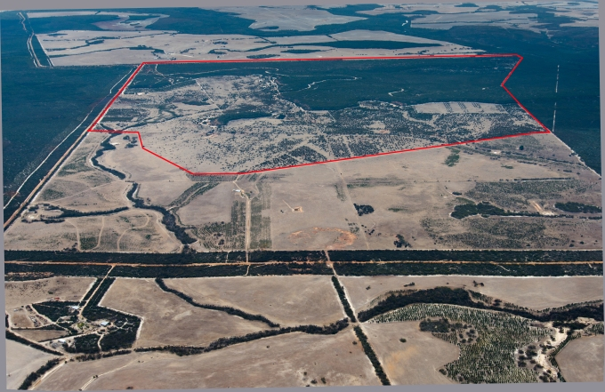 Fig 3 Nowanup aerial 2014. Courtesy Airpix