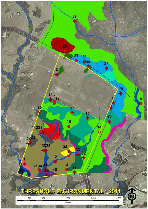 Figure 3: Output map of dominant vegetation associations at Monjebup North Reserve.
