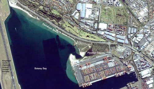 Figure 1: Penrhyn Estuary 2008, before port expansion.