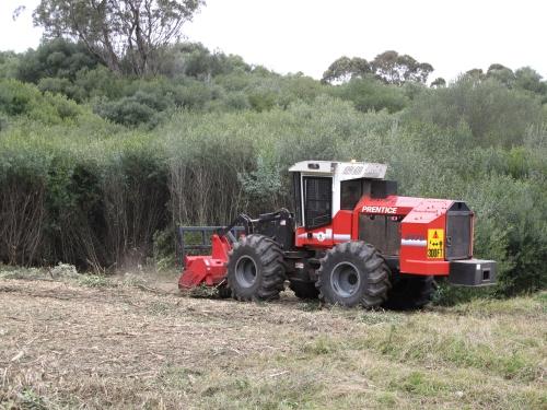 Olive mulching machine