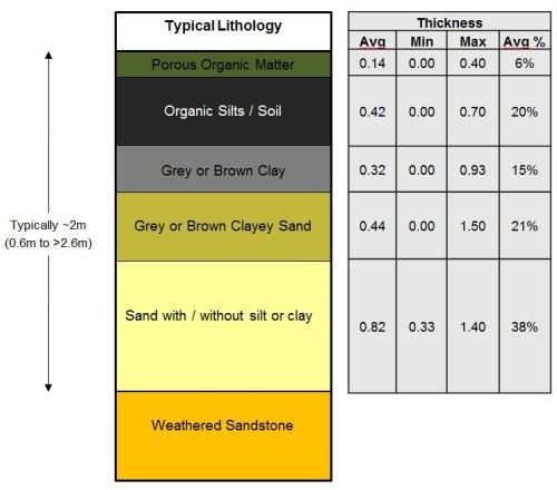 Figure 2: Typical swamp lithology
